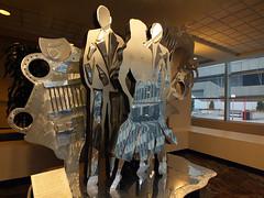 "Calgary Plus 15 Art - Roy Leadbeater ""Synergy"" 1993 (benlarhome) Tags: canada calgary art statue metal alberta publicart plus15 leadbeater rayleadbeater"