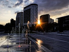 Sun (Mac McCreery) Tags: sunset sun water architecture birminghamuk eastsidepark pentaxk5iis