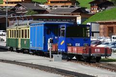 WAB Goodstrain in the station of Grindelwald Grund. (Franky De Witte - Ferroequinologist) Tags: de eisenbahn railway estrada chemin fer spoorwegen ferrocarril ferro ferrovia