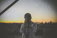 SpiderMAN (another side view) Tags: camera sunset portrait people man male art nature digital 50mm artwork nikon friend df f14 sigma multipleexposure    artworks steeltower     artline    naturepeople     nikondf df