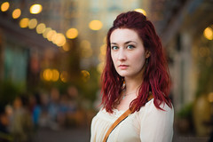 Kelly [Stranger# 67/100][ Explored 14-Oct-15] (Vijay Britto Photography) Tags: red portrait beautiful hair eyes bokeh outdoor 85mm naturallight 100strangers
