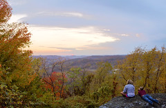 Sunset at Sky Rock (Brian Werner Photography) Tags: autumn trees sunset people mountain fall leaves wv westvirginia morgantown