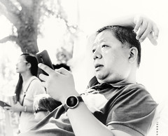 Cottonwood Art Festival, 10/15 (1mpl) Tags: bw monochrome portraits dallas texas streetphotography richardson cottonwoodartfestival niksilverefexpro olympusomdem1