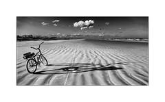Bike on Butler beach (tkimages2011) Tags: shadow sky cloud beach bike sand florida cycle staugustine butlerbeach