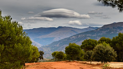 Lenticular Cloud over the Sierra Nevada (Mister Electron) Tags: cloud weather gardens clouds spain andalucia formation espana alhambra granada sierranevada lenticular meteorology nephology nikond800