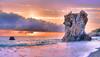 I the sea and sunset (* landscape photographer *) Tags: sunset italy seascape colors del europe flickr tramonto scenario sa sasi nikkor perla vivi colori paesaggio salvo lucania 2015 respiro scoglio tirreno martirreno golfodipolicastro nikond90 landscapephotographer marinadimaratea salvyitaly