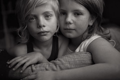 Brothers (Dalla*) Tags: two portrait bw boys kids children faces brothers siblings inside wwwdallais