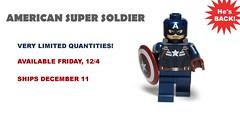 American Super Soldier - Returns 12/4 (Phoenix Custom Bricks) Tags: soldier lego super hero minifig custom amerian minifigure