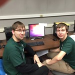 Team 2 - Zach Dernar and Josh Stevens - pose for a picture