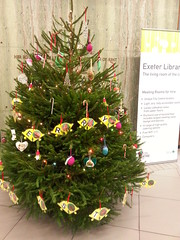 Exeter Library Christmas Tree with British Sign Language Christmas bells decoration December 2015 (soolibabc) Tags: christmas christmastree exeter bsl exeterlibrary christmastreedecorations britishsignlanguage devonlibraries devoncentre december2015