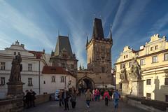 Charles Bridge - Prague (dneubaue) Tags: bridge west tower prague charles most western karlv
