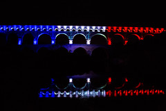 pont du Gard bleu blanc rouge (orel30) Tags: bridge france pont pontdugard gard aqueduc romanbridge bleublancrouge bluewhitered watersystems