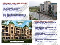 Datasheet of 3BHK Omaxe Celestia Royal Floors