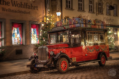 Kathe Wohlfahrt Bus (The-JMG) Tags: christmas bus germany bayern d750 noël franken rothenburg hdr rothenburgobdertauber kathewohlfahrt käthewohlfahrt flickrelite