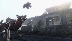 Fallout4 - Dogmeat has a new toy (tend2it) Tags: bear red dog game toy pc screenshot teddy 4 goggles nuclear xbox rpg armor future bandana dogmeat welders apocalyptic fallout injector postprocessing ps4 reshade fallout4 screenarchery