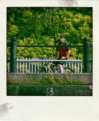 cyclist (Leo Reynolds) Tags: people polaroid fake faux phoney fakepolaroid fauxpolaroid poladroid phoneypolaroid xleol30x xxx2015xxx