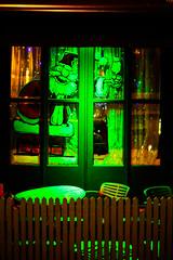 Santa says have a drink! (daviddavidson10) Tags: santa street light green photography with eerie booze haveadrink belfastsfinest