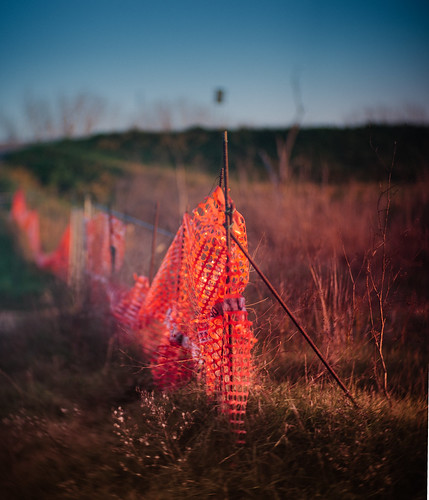 red net in a field