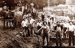 Canal, Portage Locks, Workers at Rest from Digging