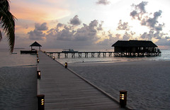 Maldivian sunset makes me feel prosperity in a life (sapphire_rouge) Tags: atoll   beach island coral resort mirihi sunset watervilla  tolopical lagoon maldives  ngc mirihiisland