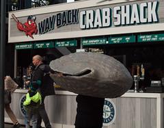 ivars (keown29) Tags: mariners safeco field kids fan appreciation day mascot mascots ivars clam crab shack
