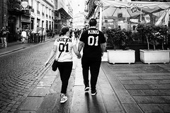 Queen & King (michele liberti) Tags: streetphotography streetbw blackandwhite monocrome queen king couple number street naples napoli italy