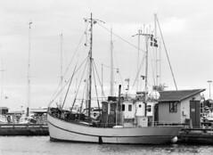 Dragr: fiskekutter (holtelars) Tags: pentax pentax645 645 645n 6x45 smcpentaxfa 200mm f40 120film 120 foma fomapan fomapan100 fomapan100classic 100iso mediumformat analog analogue blackandwhite classicblackwhite bw monochrome filmforever filmphotography xtol homeprocessing larsholte denmark danmark hrsholmfotoklub dragr havn marina fototur film fishingboat fishingcutter