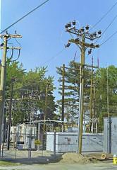 Work on Substation (en tee gee) Tags: construction substation rebuilding 23kv 4kv transformer lipa huntington ny poles