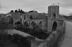 Medieval city of Besal (Jordi sureda) Tags: city medieval girona catalunya monochrome blackandwhite blancoynegro stone street jordisureda besal old viejo