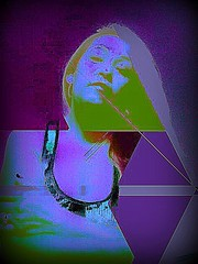 """ Within Exposure #4 "" (ColFineArtistMar1) Tags: art artist artistic blue lavender colors hues expressive image manipulation distortion contemporary visual orlando woman selfie portrait dramatic viviid"