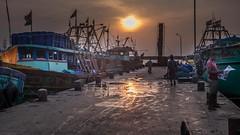 Early Morning (rameshsar) Tags: 1655 abstracts india chennai colors patterns textures xt1 boats sunrise dawn morning
