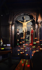 (Jean-Luc Lopoldi) Tags: paysbasque glise crucifixion bougies reflets bancs christ stjeandeluz mariagedelouisxiv church catholicisme religion
