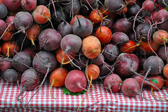Red beets on table (Perl Photography) Tags: beets turnips vegetables roots garden farm agriculture tablecloth harvest autumn red produce healthy nutritious organic fresh cooking