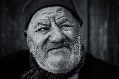 THE OLD MAN AND THE MOUNTAINS (Axel Halbgebauer) Tags: iran travel portrait closeup sony sonyalpha sonya7r2 sonnar13518za sonyimages streetportait street streetphotography beard oldman oldage old blackandwhite blackwhite zeiss carlzeiss dof documentary people face expression