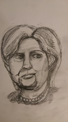 She might be president (Unmarriedswede) Tags: hillary clinton donald trump she might be president election white house lady female woman portrait face people