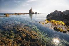 (356/16) El Arrecife de las Sirenas (Pablo Arias) Tags: pabloarias photoshop nxd cielo nubes texturas mar agua formacinrocosa chimeneavolcnica cabodegata parquenatural almera andaluca comunidadandaluza