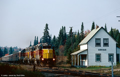 AC 200_Achigan_ON_10-1_1983 (Frater Operator) Tags: algomacentral agawacanyontourtrain railroad train locomotive