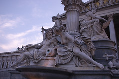 The Athena Fountain (hiroy71) Tags: scorcio statua statue animals acqua blu bianco white colore colors calcare decorations drop art arte horse hands shadows whater ritratti luce luci landscapes landscape leaf model nuvole clouds ombre old portrait particular panorama people sky vienna wien woman water sword spada pentax k5 smcpentaxda1855mmf3556alwr