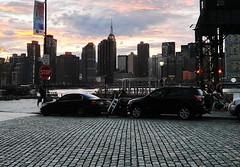 Iron City (lotos_leo) Tags: longislandcity ny newyork night eastriver skyline twilight outdoor urban street pave мостовая city car people road ironcity architecture vehicle