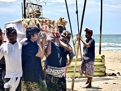 Cremation ceremony on Kuta beach . (Franc Le Blanc .) Tags: panasonic lumix indonesia bali kuta hindu cremationceremony beach pantai coffin