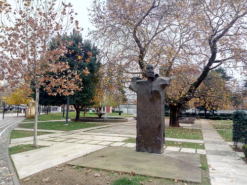 """Fan Noli"" Statue in Tirana"