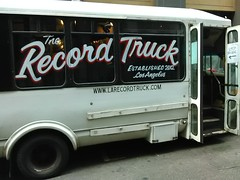 The Record Truck (mistermafia) Tags: losangelescadowntownlaskidrowlosangeles downtownlosangelesca oldschoolrecords albums