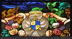 Ragusa Ibla (Sicilia-Italia). Iglesia San Giorgio. Vidriera. Escudo de los Arezzo di Trifiletti (santi abella) Tags: ragusa ragusaibla sicilia italia herldica escudos vidrieras