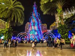 Christmas Nuance in A Shopping Park (hastuwi) Tags: flickrfriday christmasmarket jakartabarat indonesia idn tomang jakarta centralpark christmas natal desember december xmas christmastree night tree