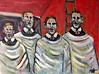 My four singing uncles (The Big Jiggety) Tags: oil canvas tableau huile toile tela oleo retrato portrait uncles brothers freres fratelli hermanos bruedern choir boys