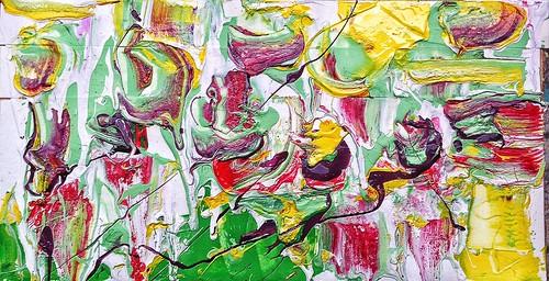 #josephallenart #oct2016 6.5x11.5 #acryliconpaper #abstractpainting