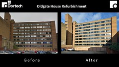 @Dortech Curtain Wall replacement at Oldgate House, Huddersfield, West Yorkshire (jamesutherland) Tags: curtainwall glazing glass aluminiumwindow entrancedoors glassscreen