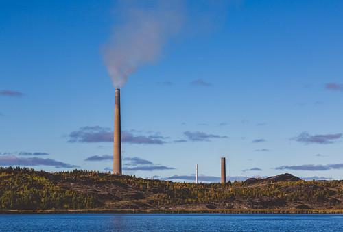 Vale Copper Cliff Nickel Refinery Smoke Stacks - Sudbury, Ontario
