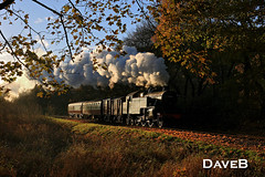 10th November 2016. Fairburn 42073 on the Lakeside and Haverthwaite Railway PVC (Dangerous44) Tags: 42073 fairburn tank river leven steam locomotive engine lakeside haverthwaite railway