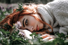 Vika (evgeniy_ruban) Tags: girl green red forest great beautiful model color canon 50d 30mm sigma